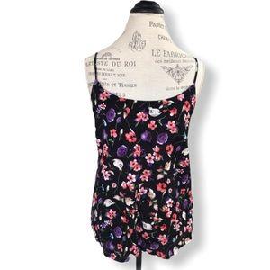 Vero Moda Floral Top in Black, Pink, White, Purple